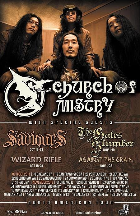 Church of Misery 2013 North American Tour Poster