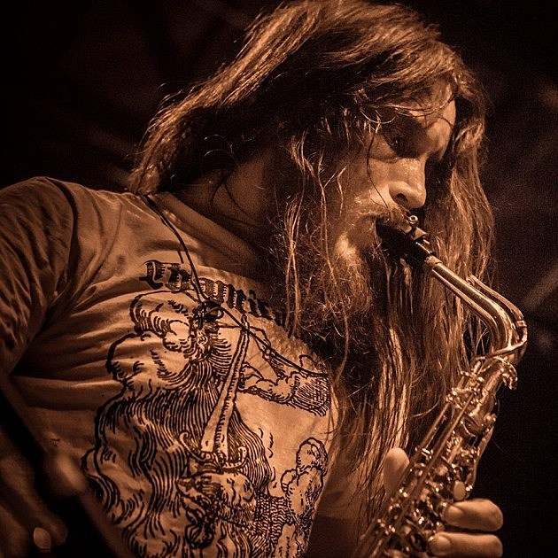 """Val """"Ascaris"""" Dorr live at California Deathfest 2015 Photo: Anna Hummell/ Photophobic Reflections"""