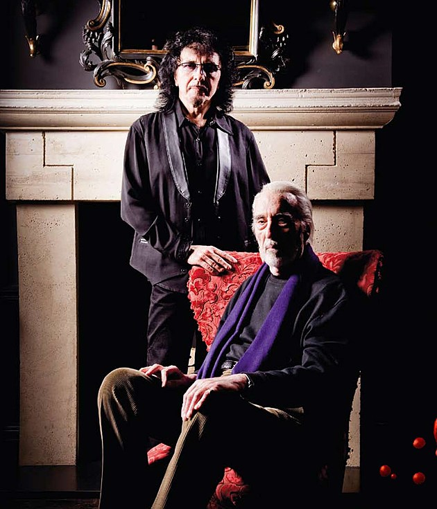 Christopher Lee with Black Sabbath guitarist Tony Iommi in 2010.