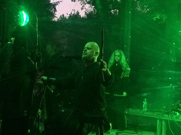 Photo of Wardruna performing at Faerieworlds on September 4, 2016, by Franklin Jeffers
