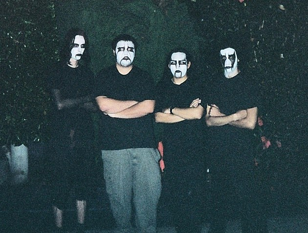 Exhausted Prayer in 1998: (L-R) Mike Caffell, BJ Russum, Swansong, Heist