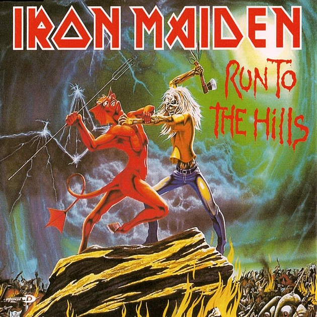 iron maiden run to the hills cover