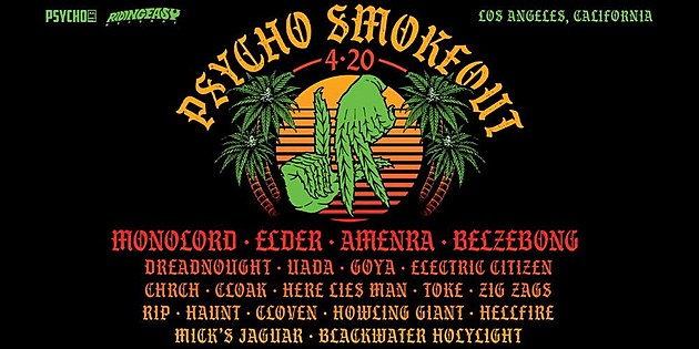 Toked Up: Seven Essential Bands Playing Psycho Smokeout 4/20 in Los