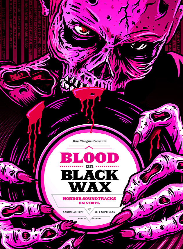 blood on black wax cover